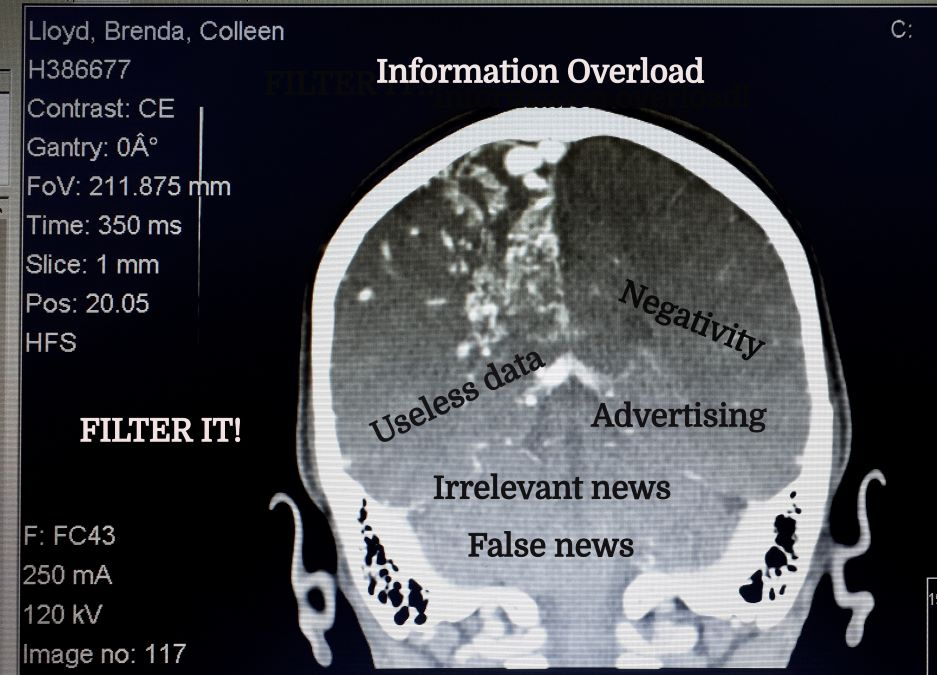 brain scan, information overload
